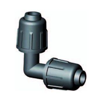 Tropfschlauch Klemmverschluss Winkelanschluss 90º 16 mm